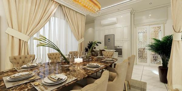 Dining Area Alamsari - Type J Interior Design Interior Design Selangor, Balakong, Kuala Lumpur (KL) Contractor | Complex Creative Sdn Bhd