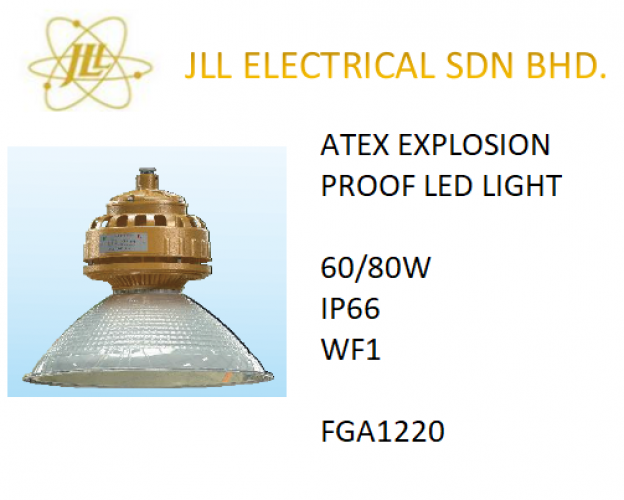 EXPLOSION PROOF ATEX LED LIGHT 60/80W FGA1220. FACTORY LIGHT