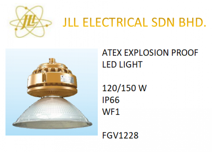 EXPLOSION PROOF ATEX LED LIGHT 120/150W FGV1228 FACTORY LIGHT