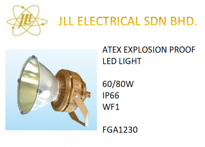 EXPLOSION PROOF SPOTLIGHT ATEX LED LIGHT 60/80W FGA1230. OFF SHORE PROFICIENT LED LIGHT