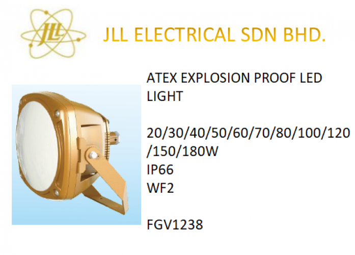EXPLOSION PROOF ATEX LED LIGHT 20/30/40/50/60/70/80/100/120/150/180W FGV1238 LED SPOTLIGHT