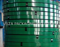 GREEN PAINTED STEEL STRAPPING BAND STRAPPING BAND INDUSTRIAL PACKING MATERIAL Selangor, Klang, Malaysia, Kuala Lumpur (KL) Supplier, Suppliers, Supply, Supplies | VISTA PACKAGING INDUSTRIES (M) SDN. BHD.