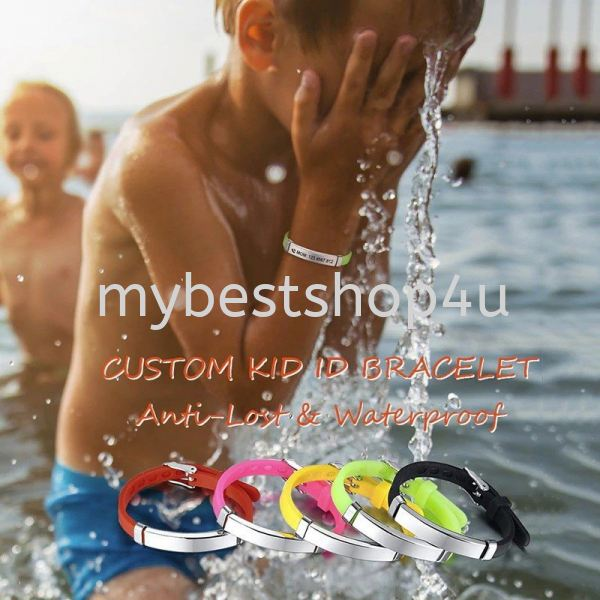 Personalize Kids Baby ID Bracelets Soft Silicone Rudder Stainless Steel Children Girls Boys Custom E Children and Toy Penang, Malaysia, Bukit Mertajam Supplier, Suppliers, Supply, Supplies   Tien Hai Megah Trading