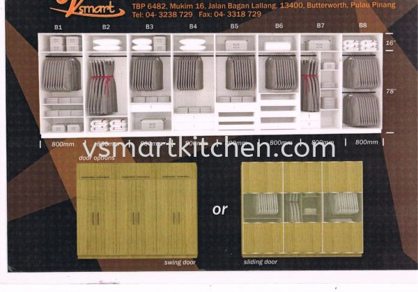 WARDROBE COMPARTMENT  WARDROBE COMPARMENT Penang, Malaysia, Butterworth Supplier, Suppliers, Supply, Supplies   V SMART KITCHEN (M) SDN BHD