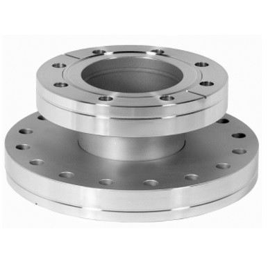 FA06000450 - Reducing nipple, 304 stainless steel, 6.00 - 4.50 inch ConFlat flange, 2.50 inch long