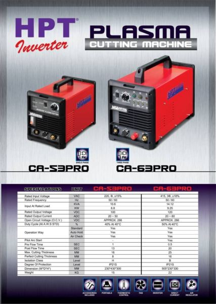 CA-53 Pro/CA-63 Pro HPT Air Plasma Cutting Machine Welding and Cutting Equipment Penang, Malaysia, Butterworth Supplier, Distributor, Supply, Supplies   Weld Power Technology & Machinery Sdn Bhd