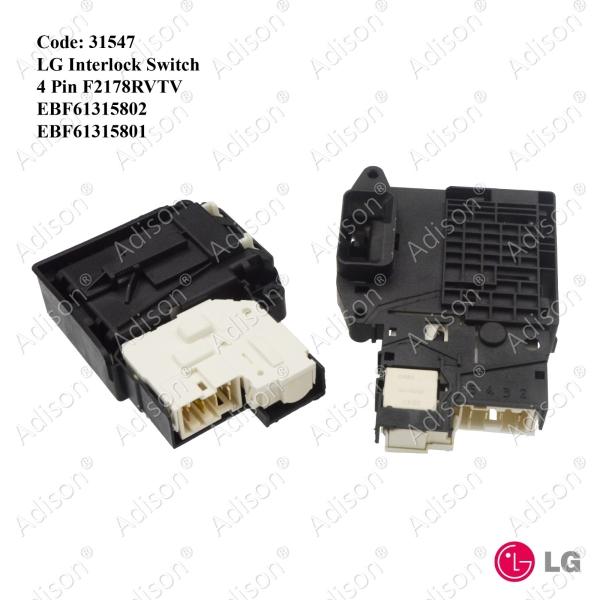 Code: 31547 WD-ND13WM LG Interlock Switch 4 Pin Door Switch / Power Switch Washing Machine Parts Melaka, Malaysia Supplier, Wholesaler, Supply, Supplies   Adison Component Sdn Bhd