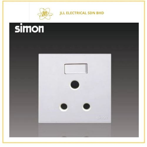 Simon Switch E6 15A Round Pin Switched Socket Outlet White