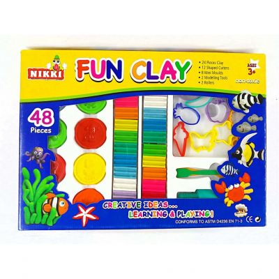 Nikki Fun Clay 48 Pieces ��ͯ����ճ��