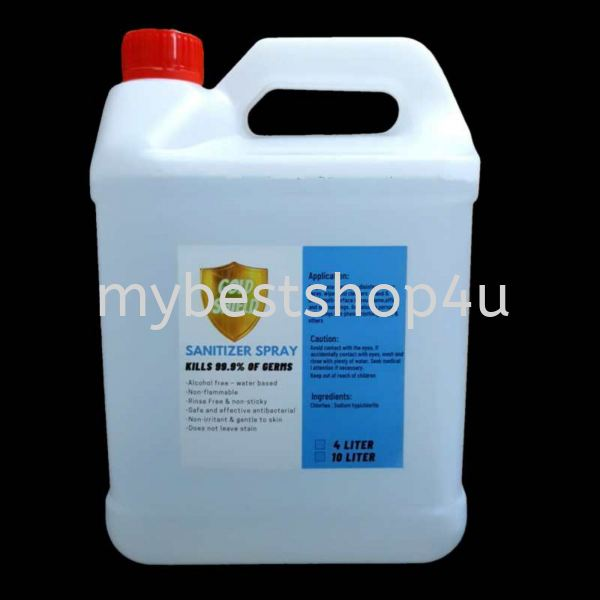 Sanitizer alcohol free 4 liter protection Penang, Malaysia, Bukit Mertajam Supplier, Suppliers, Supply, Supplies | Tien Hai Megah Trading