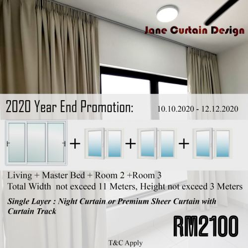 2020 Curtain Year End Promotion Single Layer