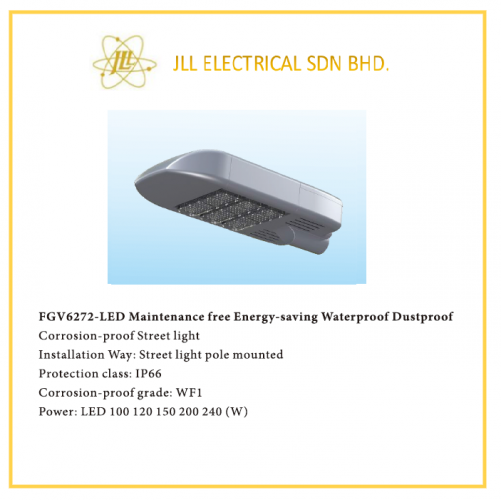 LED STREET LIGHT 100/120/150/200/240W, FGV6272 OFFSHORE APPLICABLE