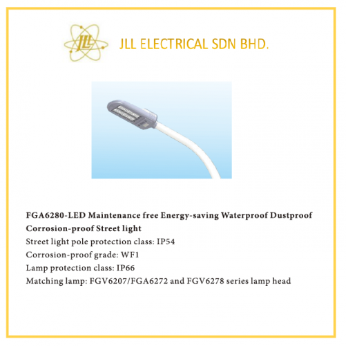 LED STREET LIGHT FGA 6280. OFFSHORE APPLICABLE