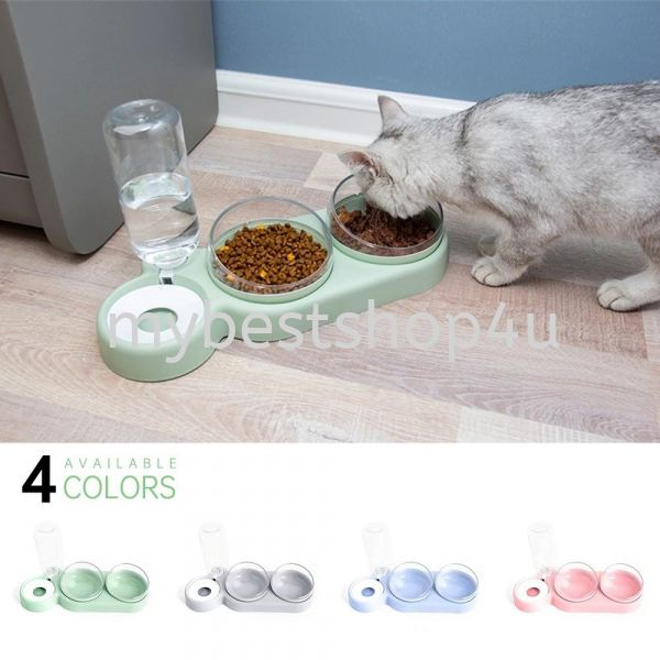 Double Pet Bowls Dog Food Water Feeder Stainless Steel Pet Drinking Dish Feeder Cat Puppy Feeding Su Pet accessories Penang, Malaysia, Bukit Mertajam Supplier, Suppliers, Supply, Supplies | Tien Hai Megah Trading
