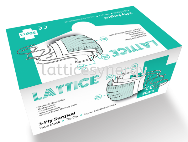 Tie On 3-Ply Surgical Face Mask Protective Apparel Selangor, Malaysia, Kuala Lumpur (KL), Petaling Jaya (PJ) Supplier, Suppliers, Supply, Supplies | Lattice Synergy Sdn Bhd