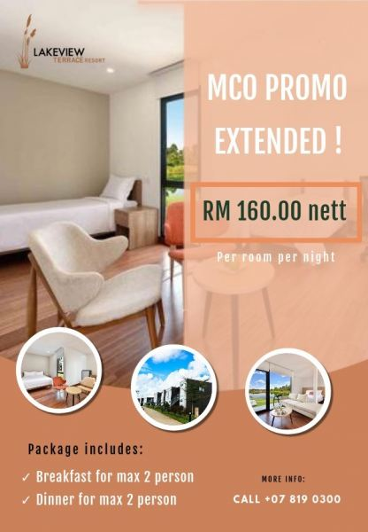 MCO Promotion Extended Room Packages Pengerang, Johor Bahru (JB), Malaysia Resort, Hotel | Lakeview Terrace Resort