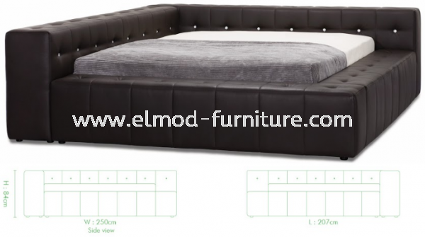 GB175 Stachy Bed Frame  Bedroom Set Selangor, Kuala Lumpur (KL), Puchong, Malaysia Supplier, Suppliers, Supply, Supplies   Elmod Online Sdn Bhd