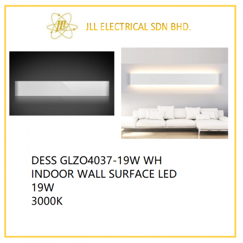 DESS GLZO4037 WH INDOOR LED WALL LIGHT 19W 3000K