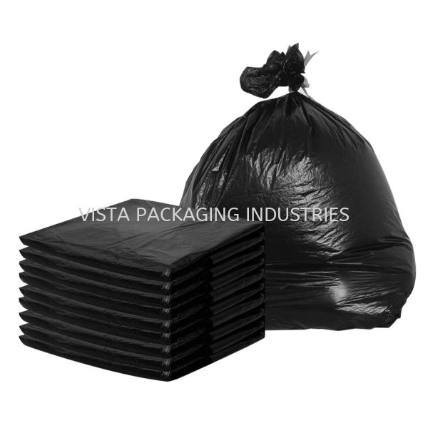 BLACK GARBAGE BAG JANITORIAL & HYGIENE INDUSTRIAL CONSUMER ITEM & PERSONAL SAFETY PRODUCTS Selangor, Klang, Malaysia, Kuala Lumpur (KL) Supplier, Suppliers, Supply, Supplies   VISTA PACKAGING INDUSTRIES (M) SDN. BHD.