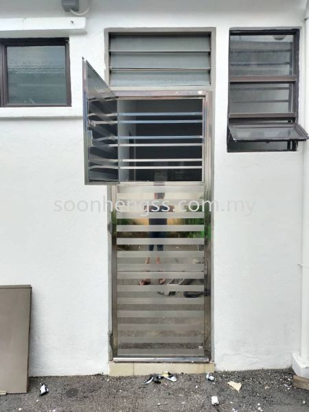 SINGLE DOOR STAINLESS STEEL Johor Bahru (JB), Skudai, Malaysia Contractor, Manufacturer, Supplier, Supply | Soon Heng Stainless Steel & Renovation Works Sdn Bhd