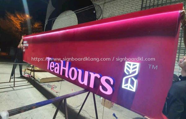 klang Group Teahours 3D led channel box up lettering frontlit signage at setia alam shah alam and klang 3D LED SIGNAGE Selangor, Malaysia Supply, Manufacturers, Printing | Great Sign Advertising (M) Sdn Bhd