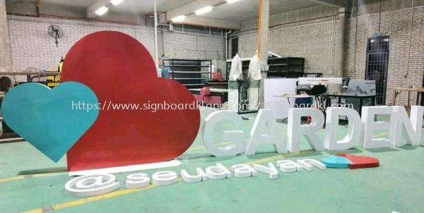 Garden sendayan Aluminum Giant big 3D lettering stand signage at seremban ALUMINIUM BIG 3D BOX UP LETTERING SIGNAGE Selangor, Malaysia Supply, Manufacturers, Printing   Great Sign Advertising (M) Sdn Bhd