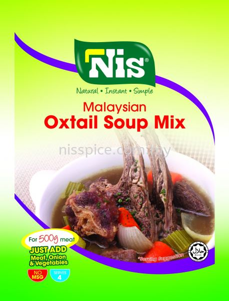 Nis Malaysian Oxtail Soup Mix Instant Mixed Spices Skudai, Johor Bahru (JB), Malaysia. Manufacturers, Suppliers, Supply, Supplies | NIS Spice Manufacturing Sdn Bhd
