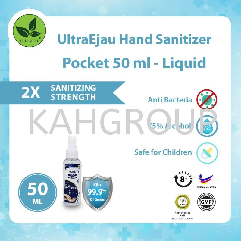 UltraEjau Hand Sanitizer Pocket 50ml - Liquid