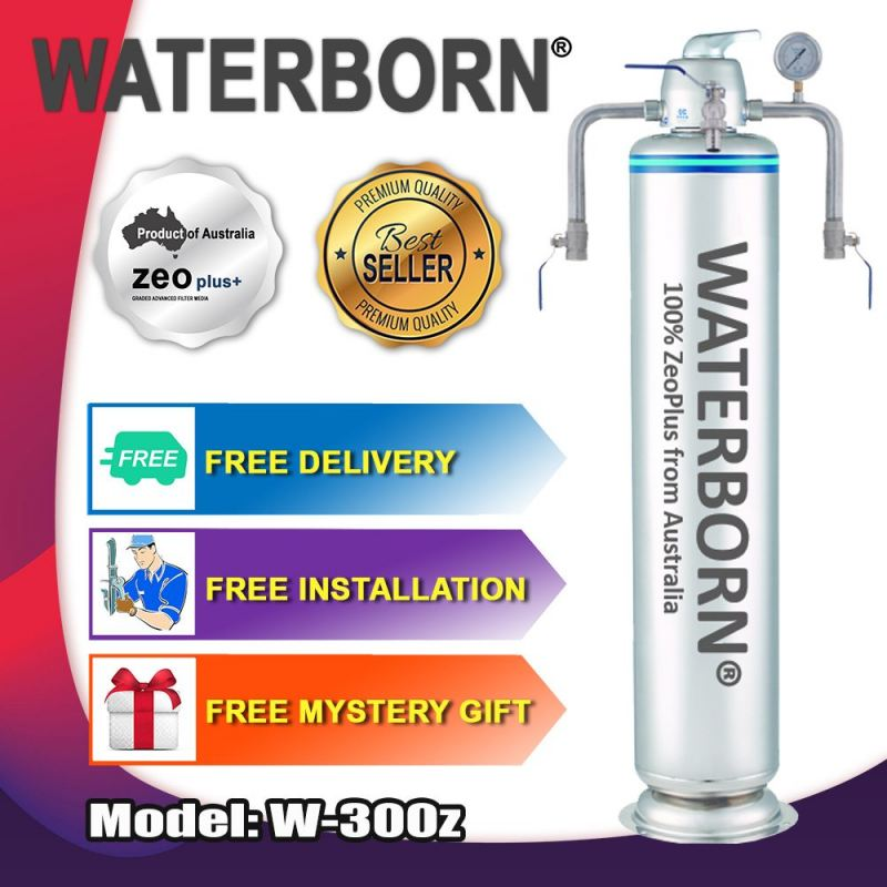 WATERBORN W-300Z Stainless Steel Master Filter Outdoor Filter with Australia Zeoplus Media (Warranty : Body Vessel - 5 Years, MPV & Accessory - 1 Year)