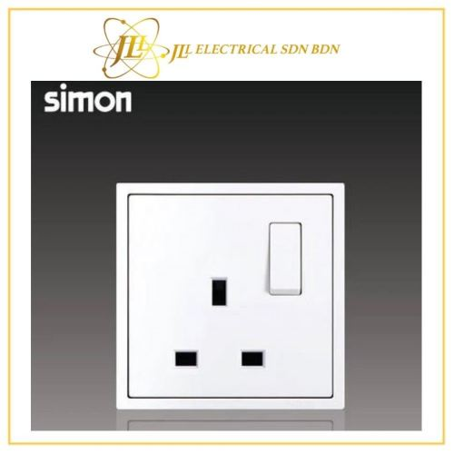 Simon Switch i7 701382-30 13A Flat Pin Switch Socket Outlet - Matt White