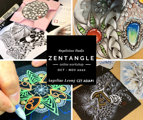 Online Zentangle Workshops Back to Back Zentangle Workshops  Zentangle Kuala Lumpur (KL), Malaysia, Selangor, Danau Desa Class, Lesson, Workshop | Angelicioxs Studio