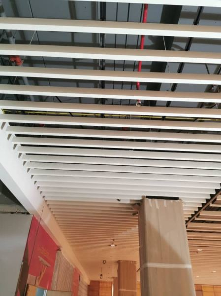 Custom Baffle with 325 Panel 50x100 Baffle Ceiling with 325 Panel Aluminium Baffle Ceiling Kuala Lumpur (KL), Malaysia, Selangor, Kepong Supplier, Suppliers, Supply, Supplies   A C S CONTRACTOR SDN BHD