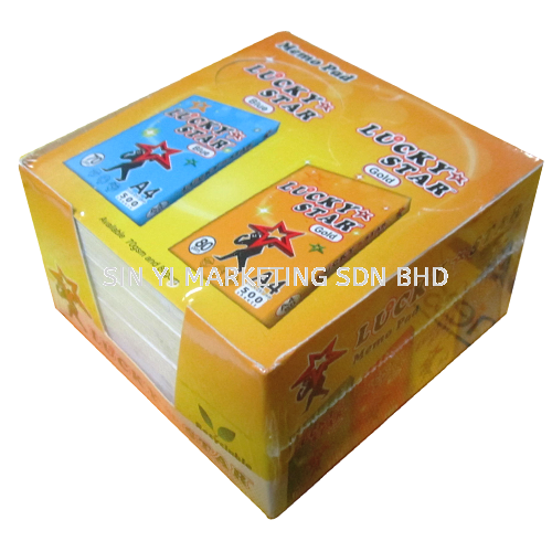 Lucky Star Memo Pad -  450's (White) PAPER MISC PAPER PRODUCT Kuala Lumpur (KL), Malaysia, Selangor Supplier, Suppliers, Supply, Supplies   SIN YI MARKETING SDN BHD