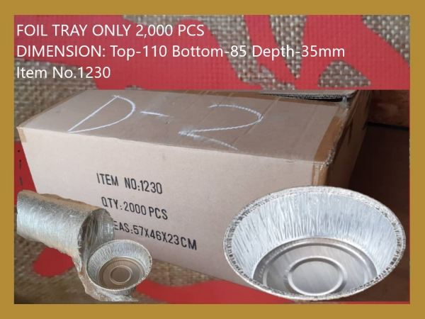 1230 FOIL TRAY ONLY (2,000 PCS) ALUMINIUM FOIL ALUMINIUM FOIL AND FOOD WRAPPING Kuala Lumpur (KL), Malaysia, Selangor, Kepong Supplier, Suppliers, Supply, Supplies   RS Peck Trading