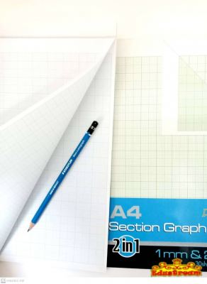Campap A4 Section Graph Pad 30 Sheets