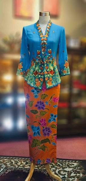 KBY018 Nyonya Kebaya (Peacock Motif) - Size S Kebaya Series Nyonya Series Penang, Malaysia, George Town Supplier, Suppliers, Supply, Supplies   Jade Collection Trading