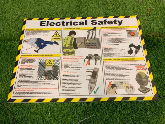 POSTER ELECTRCAL SAFETY POSTER