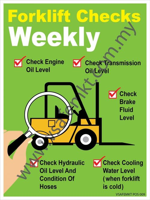 FORKLIFT WEEKLY CHECK LIST POSTER
