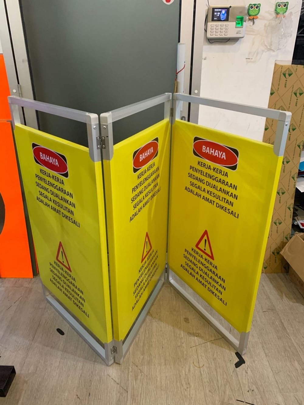 LIFT BARRIER ELEVATOR GUARD (ALUMINIUM FRAME)