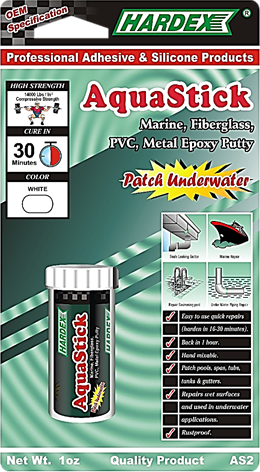 HARDEX AQUASTICK STEEL UNDERWATER EPOXY COMPOUND AS 2 PVC AND METAL EPOXY PUTTY STICK UNDERWATER