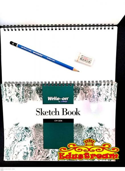SKETCH BOOK WITH RING B5 15'S 135 GSM CW2206 Sketch Book Stationery & Craft Johor Bahru (JB), Malaysia Supplier, Suppliers, Supply, Supplies | Edustream Sdn Bhd