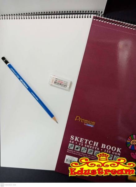 SPIRAL SKETCH BOOK WITH RING A4 Sketch Book Stationery Johor Bahru (JB), Malaysia Supplier, Suppliers, Supply, Supplies | Edustream Sdn Bhd