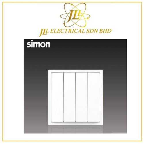 Simon i7 701042-30 10A 4 Gang 2 Way White