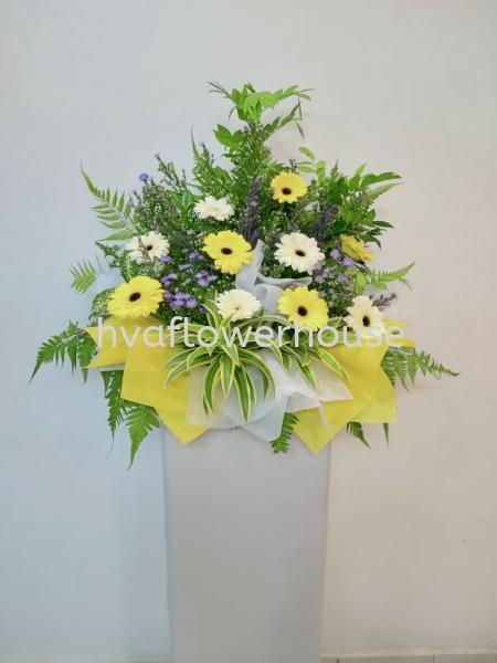 Condolence Flora stand basic Condolence Floral Stand Johor Bahru (JB), Malaysia, Ulu Tiram Supplier, Suppliers, Supply, Supplies | HV A Flower House