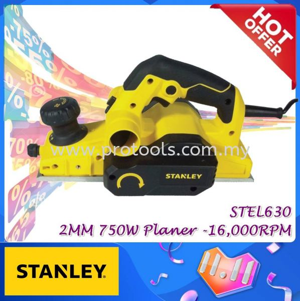 STEL630 STANLEY 750w ELECTRIC PLANER ¡¾READY STOCKS¡¿¡¾WOOD WORK¡¿¡¾ STEL 630 ¡¿ MONTHLY PROMOTION PROMOTION Johor Bahru (JB), Malaysia, Senai Supplier, Suppliers, Supply, Supplies   Protools Hardware Sdn Bhd
