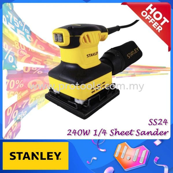 SS24-XD STANLEY 1/4 SHEET SANDER ¡¾ SS24¡¿¡¾SS 24¡¿¡¾STANLEY SS¡¿ MONTHLY PROMOTION PROMOTION Johor Bahru (JB), Malaysia, Senai Supplier, Suppliers, Supply, Supplies | Protools Hardware Sdn Bhd