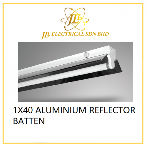1X40 ALUMINIUM REFLECTOR BATTEN. USED FOR FISH TANNING ETC. SR 140 AR