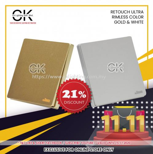 RETOUCH PROMOTION 21% OFF GOLD & WHITE FOR ONLINE STORE ONLY