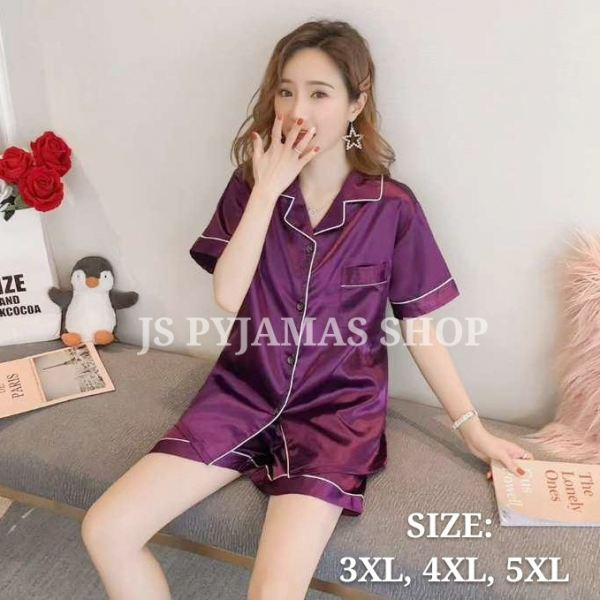 BIG SIZE SILK PYJAMAS Short Sleeve Short Pant Set UNISEX Pyjamas Johor, Malaysia, Batu Pahat Supplier, Wholesaler, Supply, Supplies | Sexy Accessories Trading