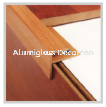 PVC Stair Nose (F) Laminate Floor Accessories (AEX) Laminated Timber Flooring Selangor, Klang, Kuala Lumpur (KL), Malaysia Supplier, Suppliers, Supply, Supplies | Alumiglass Decoreno Sdn Bhd